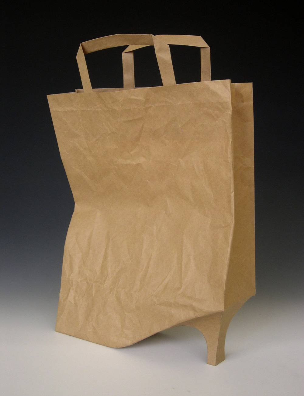 Paper high-heeled tote bag